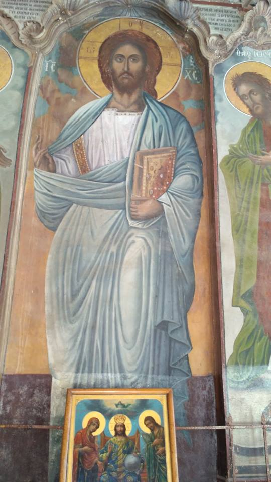 Icoana cu chipul Mântuitorului de la Mănăstirea Iviru
