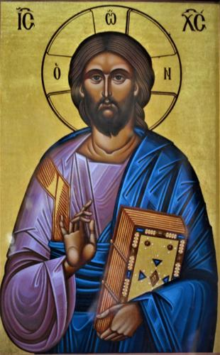 Iisus Hristos binecuvantand